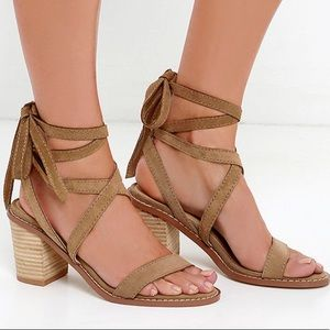 CHINESE LAUNDRY CALVARY SUEDE LEATHER SANDALS